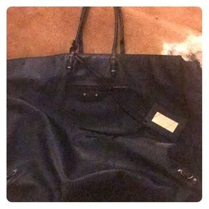 Balenciaga    XL. Navy  butter soft leather auth!